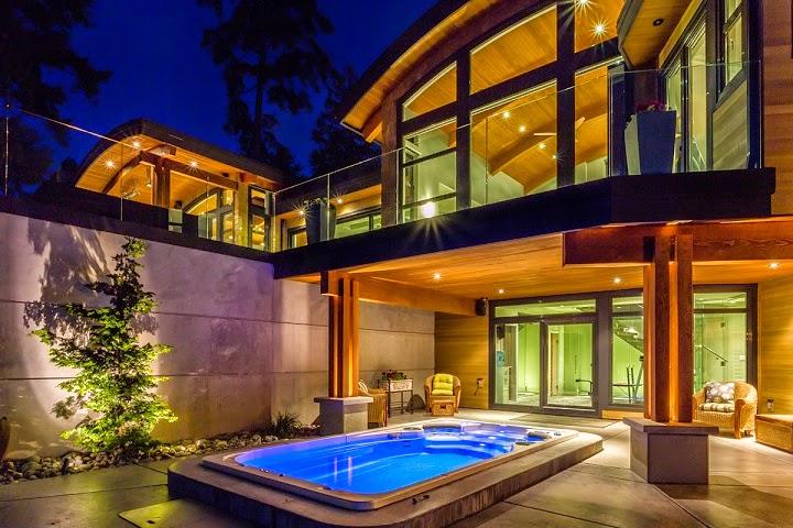 Interiores de casas de maderas modernas for Casa moderna madera