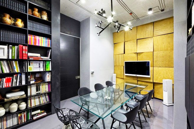 Oficina y showroom taller arquitectura sergey makhno for Arquitectura de oficinas modernas