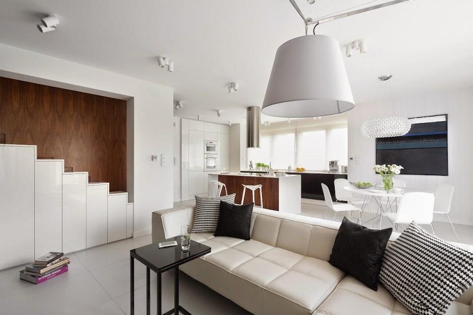 Casa d58 decoraci n interior minimalista polonia - Muebles salon minimalista ...