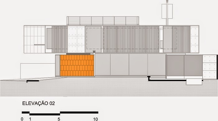 elevacion-Casa NSN / Biselli Katchborian arquitetos