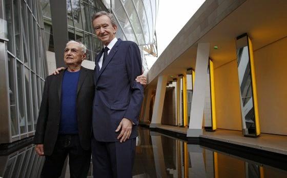 Arquitecto Frank Gehry y Bernard Arnault