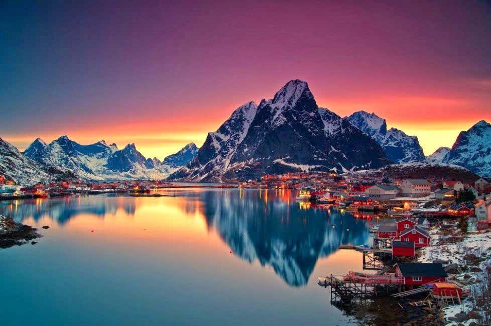 arquitectura-casas-Lofoten-Nordland-Noruega-nombres de pueblos para cuentos