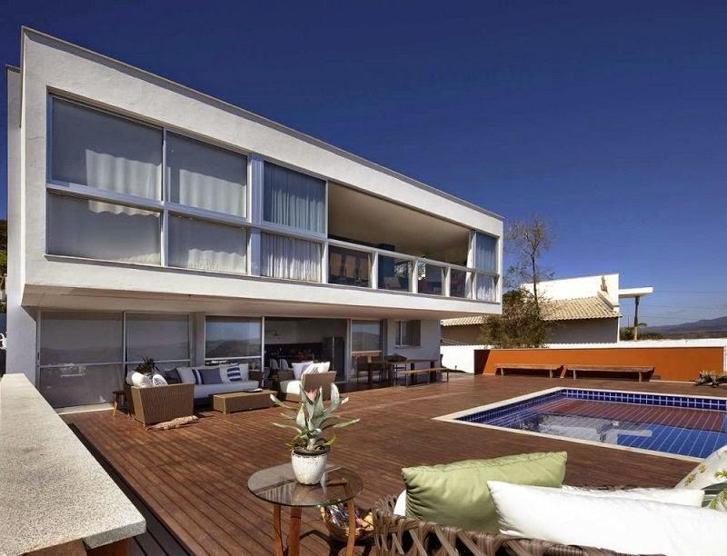 arquitectura casa del Lago Minas Gerais, Brasil