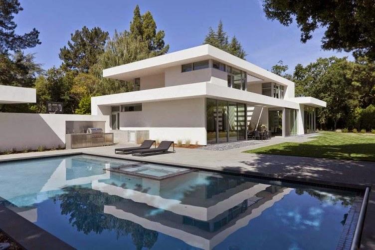 Casa ara dise o minimalista by swatt miers architects for Casa minimalista con alberca