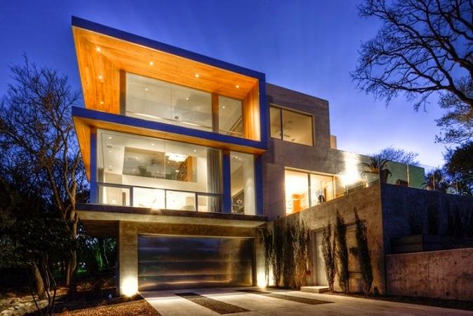 Casa moderna con vistas a austin by dick clark for Casa moderna hormigon
