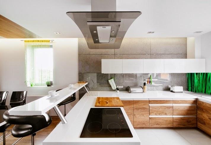 cocina-moderna Diseño interior apartamento dúplex