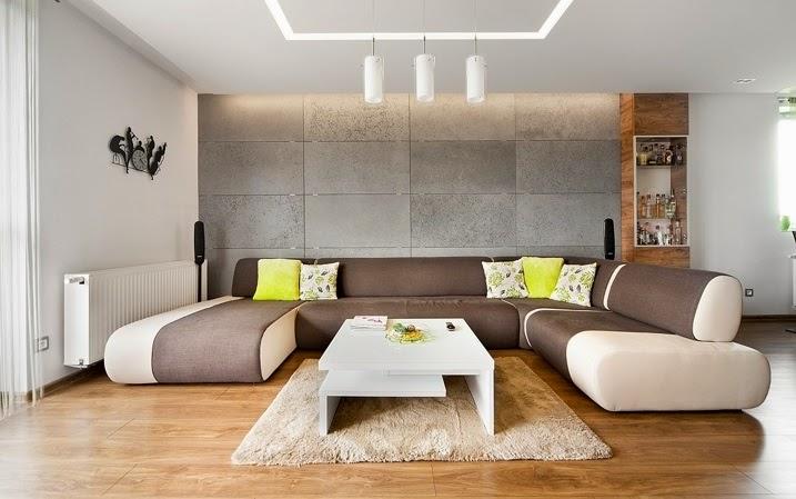 salón Diseño interior apartamento dúplex