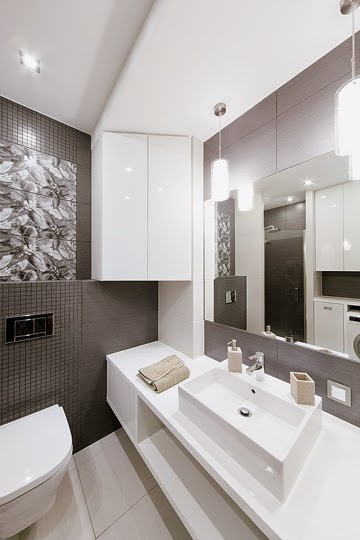 baño-gris-Diseño interior apartamento dúplex