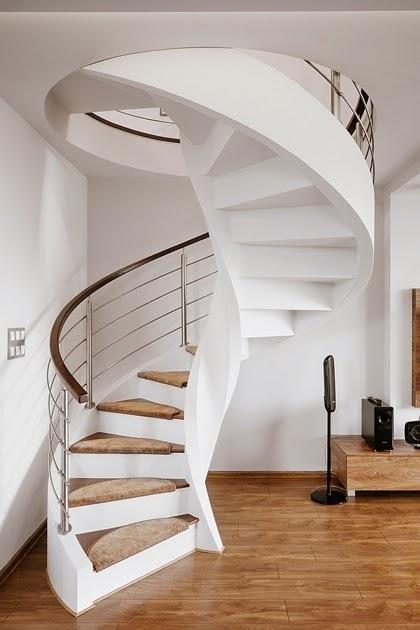 Dise o interior apartamento d plex en sosnowiec conceptgroup arquitexs - Escaleras de caracol economicas ...
