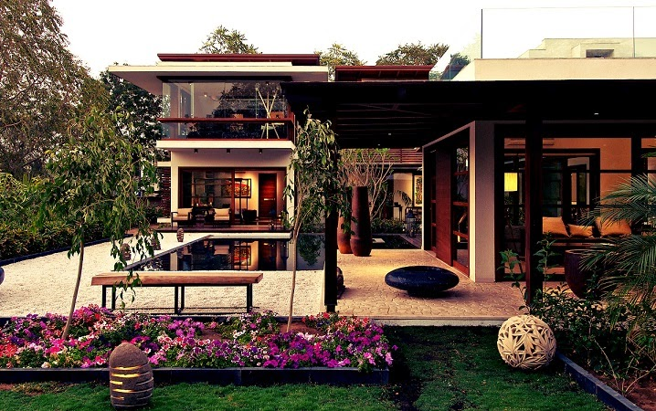 arquitectura-casa-Courtyard-India