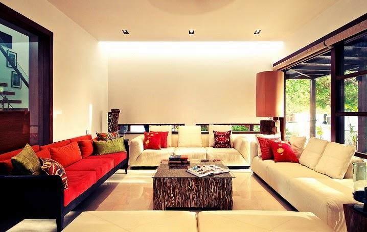 decoracion-salon-casa-Courtyard-India