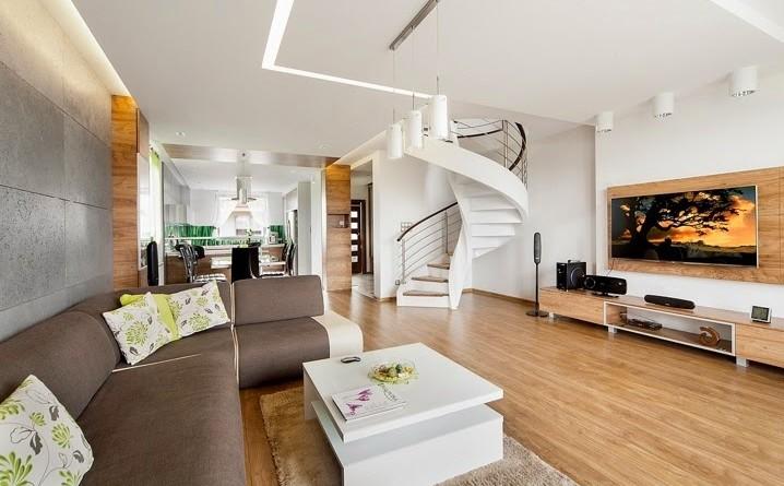 Dise o interior apartamento d plex en sosnowiec for Diseno de interiores 1960