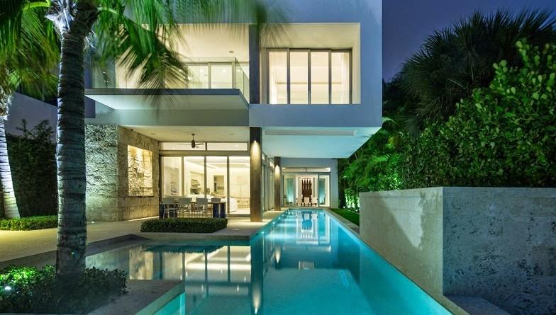 Casa de lujo Bahía Vizcaína en Miami, Florida. | ArQuitexs