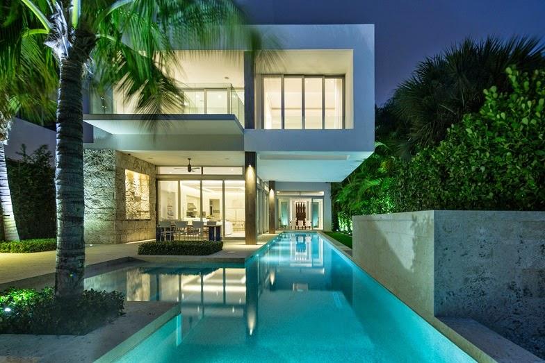 Casa de lujo bah a vizca na en miami florida arquitexs for Casas modernas con interiores contemporaneos