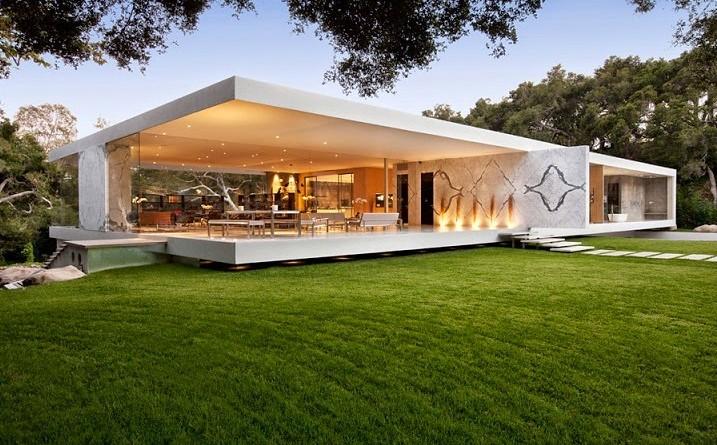 Architecture glass pavilion steve hermann santa barbara for Casa minimalista vidrio