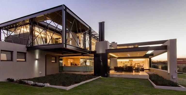 Casa ber dise o ultra moderno nico van der meulen - Estructuras de acero para casas ...