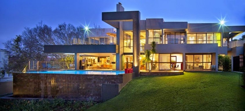 casa-contemporanea-House in Bryanston by Nico Van Der Meulen Architects