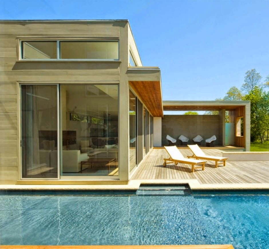 Fieldview house blaze makoid architecture east hampton for Fachadas de casas modernas con alberca