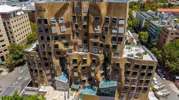 foto aerea-Edificio-Dr-Chau-Chak-Wing-Arquitecto-Frank-Gehry-Sidney