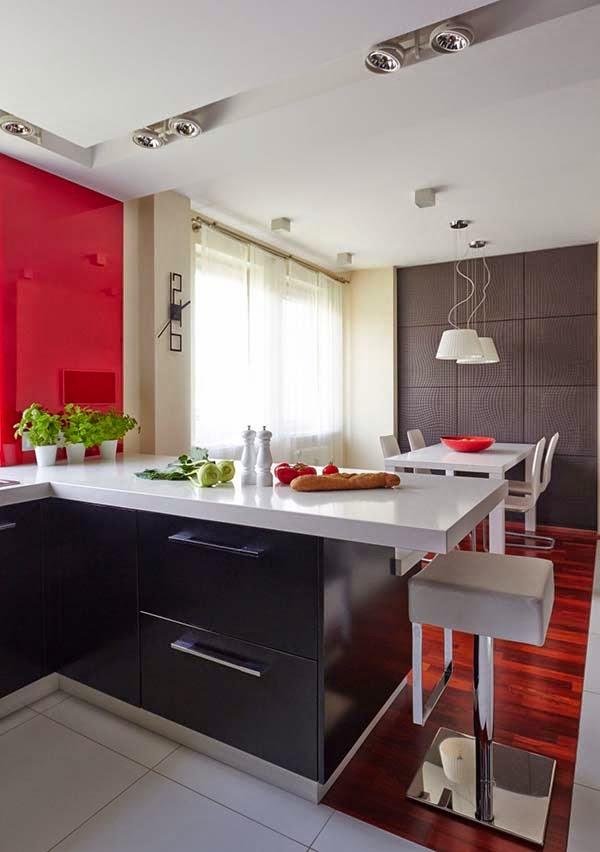 cocina-salon-M09 Residence by Widawscy Estudio Architektury