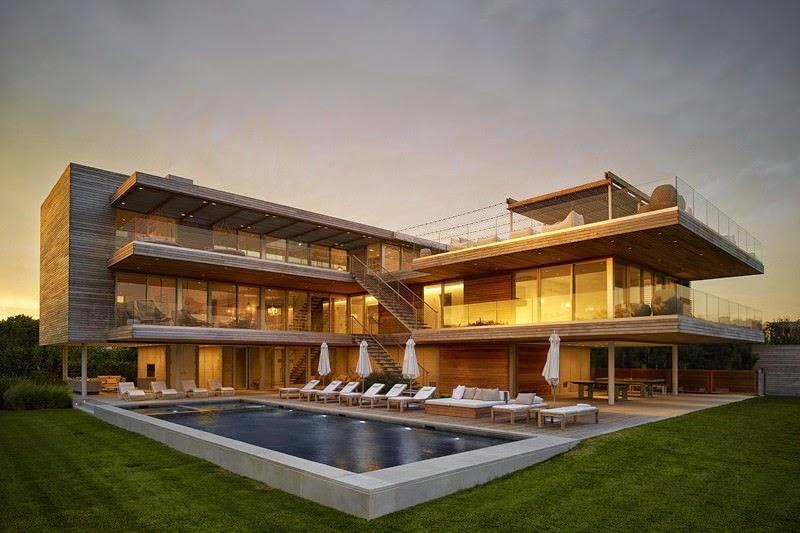 Moderna residencia frente al mar ocean deck nueva york for Casa moderna frente al mar