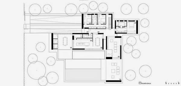 plano Casa El Bosque de arquitecto Ramón Esteve