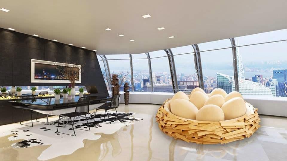 decoracion-interior-diseño-muebles-Sofá nido de pájaro