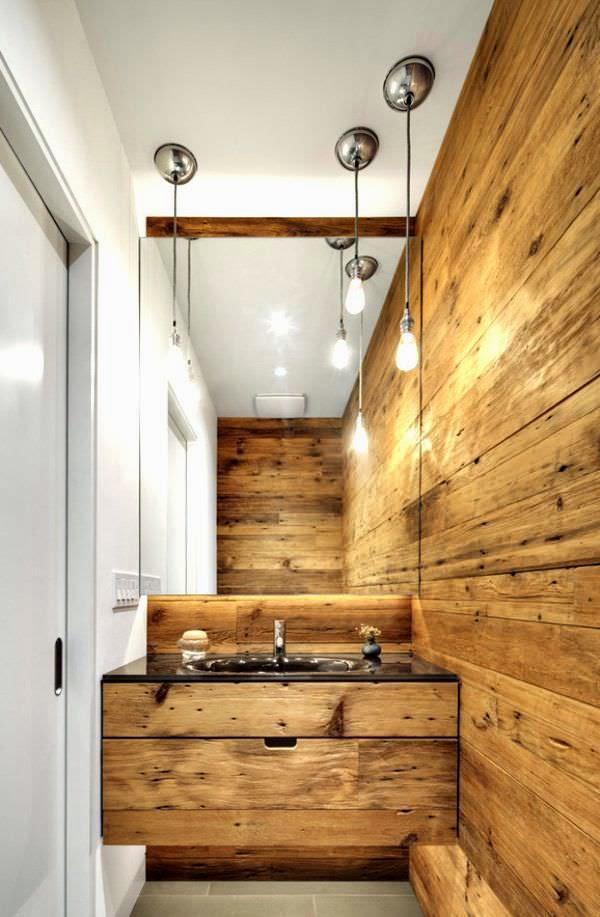 baño-rustico-madera