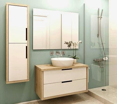 Ba os modernos en espacios peque os arquitexs for Muebles de cocina modernos pequenos