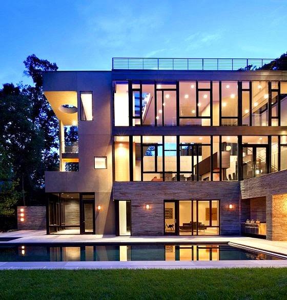 Casa brandywine dise o sostenible robert m gurney for Casas modernas en washington