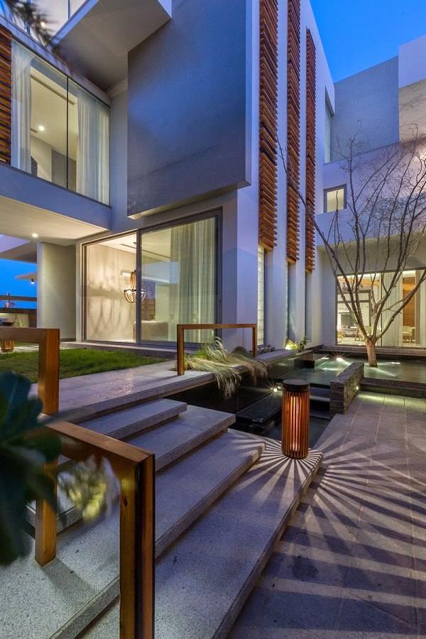 Villa amwaj una moderna casa minimalista en bahrein for Diseno casa minimalista