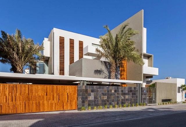 Villa amwaj una moderna casa minimalista en bahrein for Estilo de casa minimalista