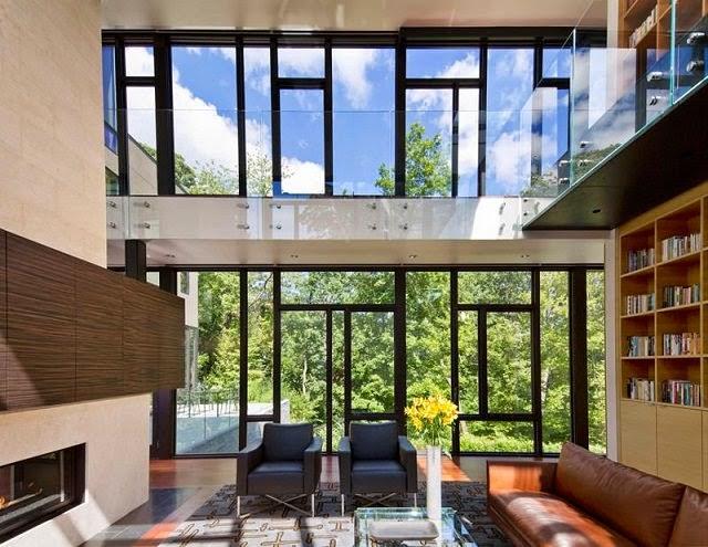 Casa ventanas de piso a techo cristal arquitexs - Techos de cristal para casas ...