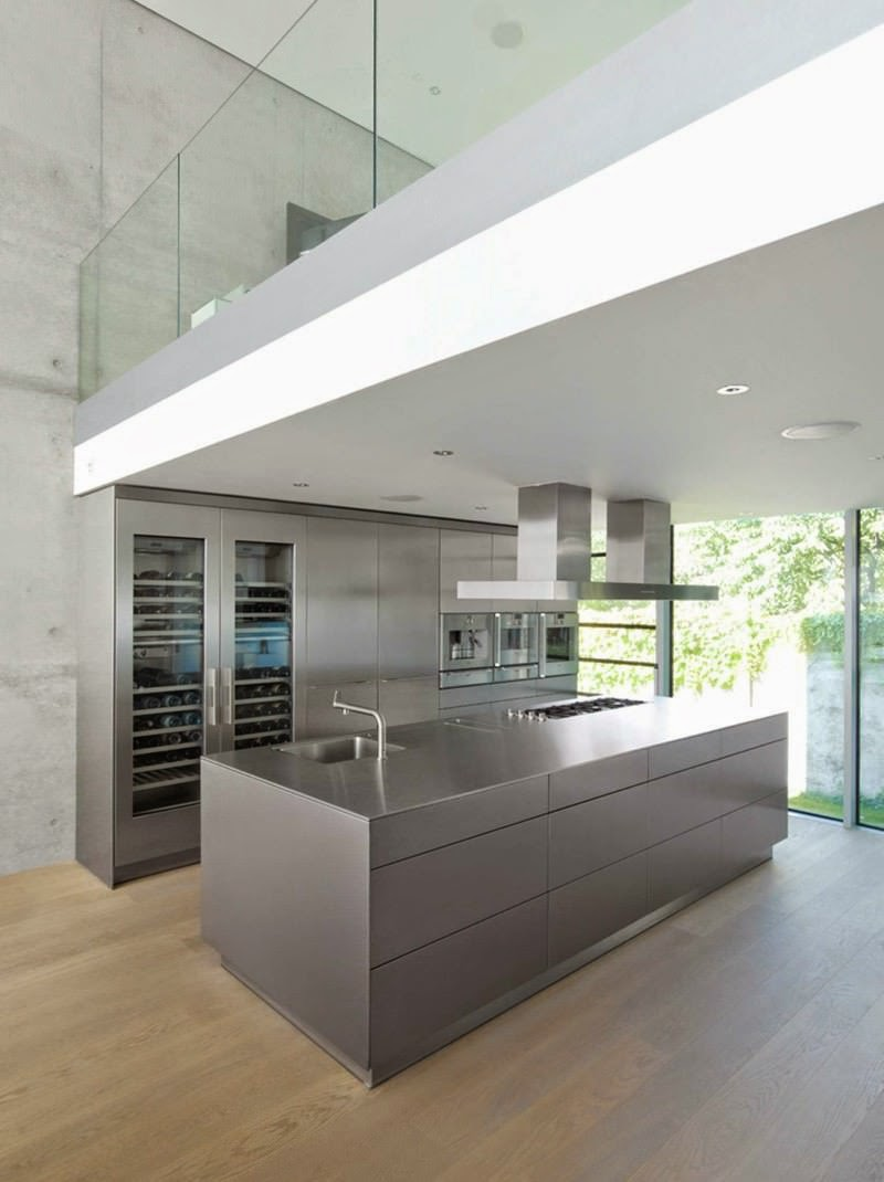 Cocina moderna diseno industrial minimalista arquitexs for Diseno cocinas uruguay