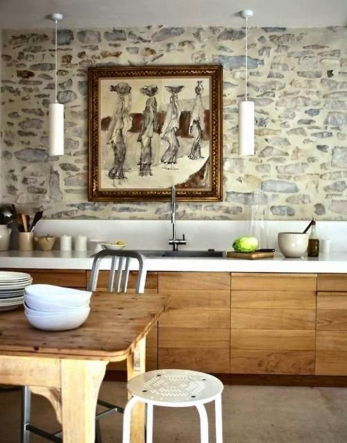 Decoraci n interior al estilo rustico moderno arquitexs - Cocina rustica moderna ...