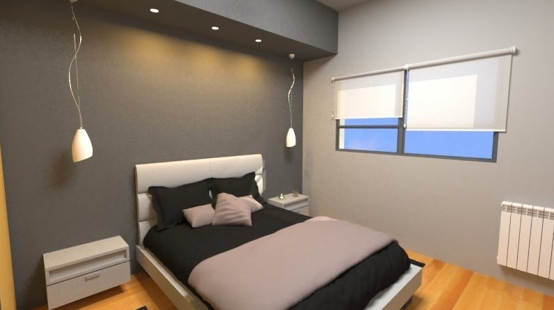 El minimalismo en una habitaci n est ndar arquitexs for Render casa minimalista
