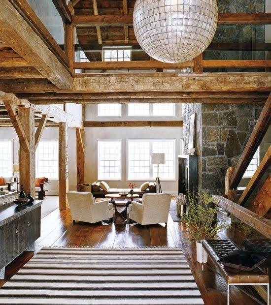 Decoraci n interior al estilo rustico moderno arquitexs - Ventiladores de techo rusticos ...