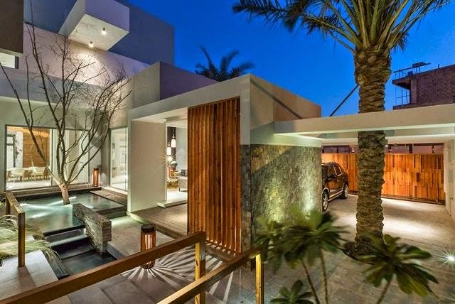 Villa amwaj una moderna casa minimalista en bahrein for Colores para interiores casas minimalistas