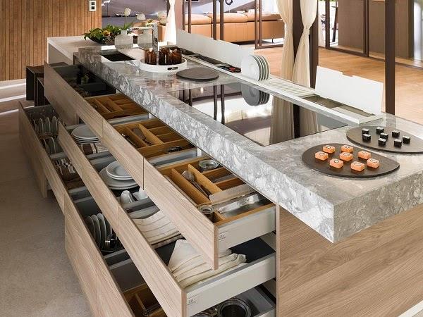 muebles-cajones-cocinas Cocinas modernas