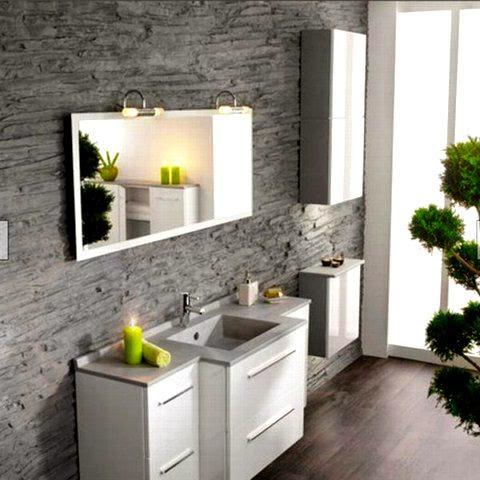Ba os modernos en espacios peque os arquitexs - Mobiliario para banos pequenos ...