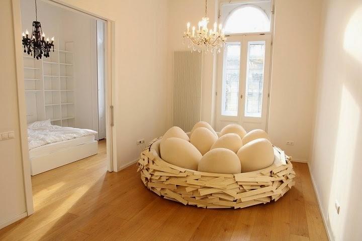 diseño-muebles-Sofá nido de pájaro
