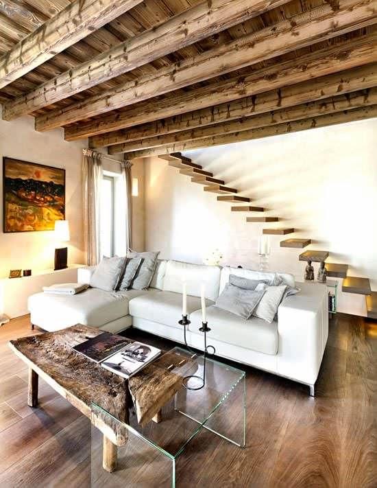 Decoraci n interior al estilo rustico moderno arquitexs - Casas con estilo rustico ...