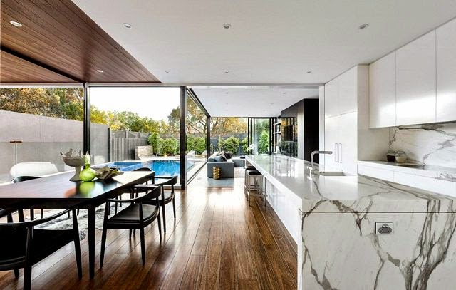 Moderna ampliacion en una casa patrimonio arquitexs for Concepto de marmol