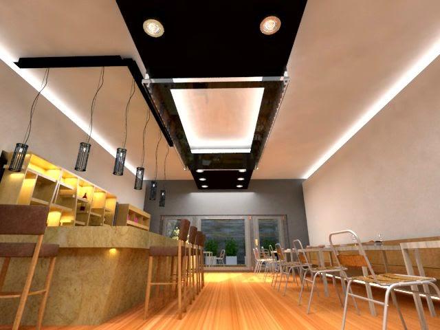 Confitería diseño interior minimalista