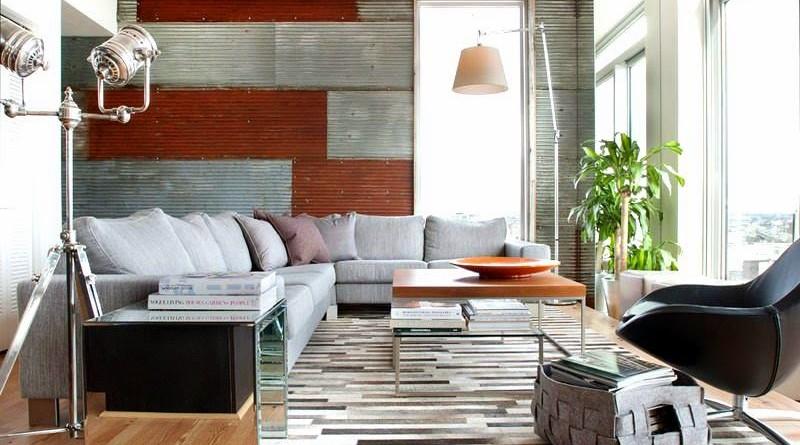 Dise o interior rustico industrial en un apartamento de for Departamentos rusticos modernos