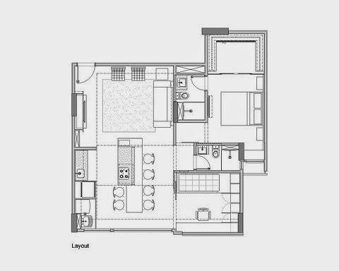 Apartamento moderno en 70 m2 arquitexs for Arquitectura departamentos modernos