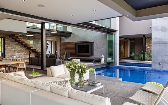 Casa en blair atholl nico van der meulen architects for Casas con piscina interior fotos
