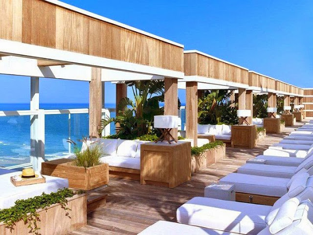 terraza-Hotel South Beach en Miami, Florida