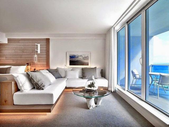 muebles-modernos-habitacion-Hotel South Beach en Miami, Florida