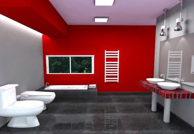 Iluminacion Baño Moderno:Diseñar baños modernos y coloridos de estilo minimalista